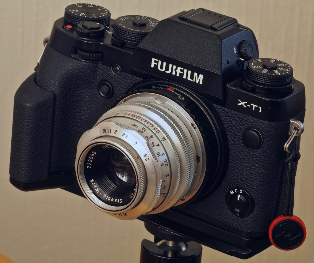50mm f/2.8 Braun Katagon 9cm mounted on Fuji X-T1 via 'Distance lens' plus M39 - Fuji FX
