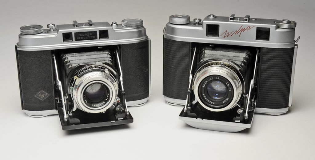 Agfa Isolette and KMZ Iskra