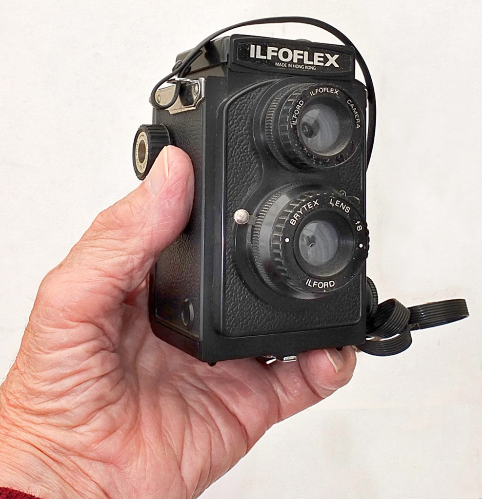 Photo of Ilford Iloflex in owners hand.
